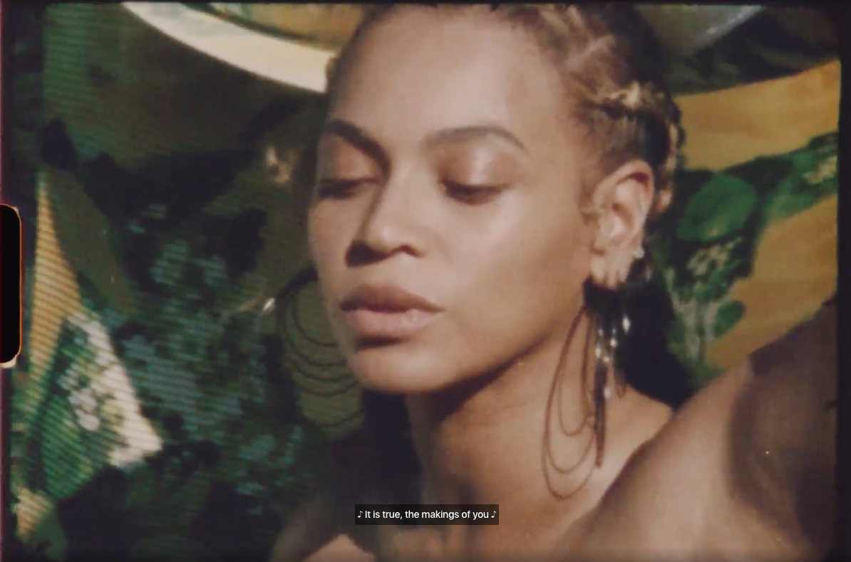 Still from  Beyoncé Behind The Scenes video shot for Vogue.