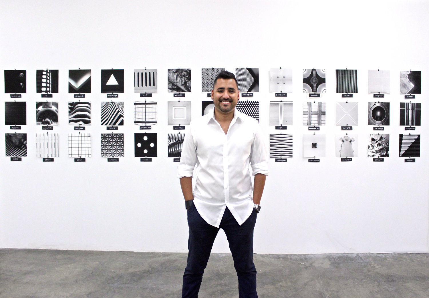 Media Resident/Fellow Carlos Mats. Carlos joined us earlier this year in front of his final exhibition as part of his fellowship with us.
