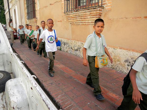 Schoolchildren in the Dominican Republic
