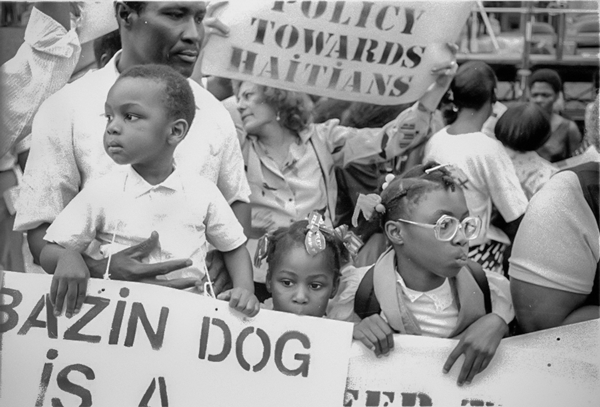 Haitian protest in New York City