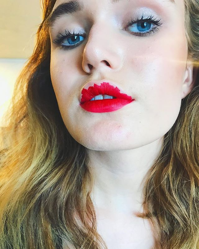 Lip Art.  Hmu by - Me #BTS with @livvblu and @brittanyroughtonphoto #classicredlip #lipart #redlip #maccosmetics