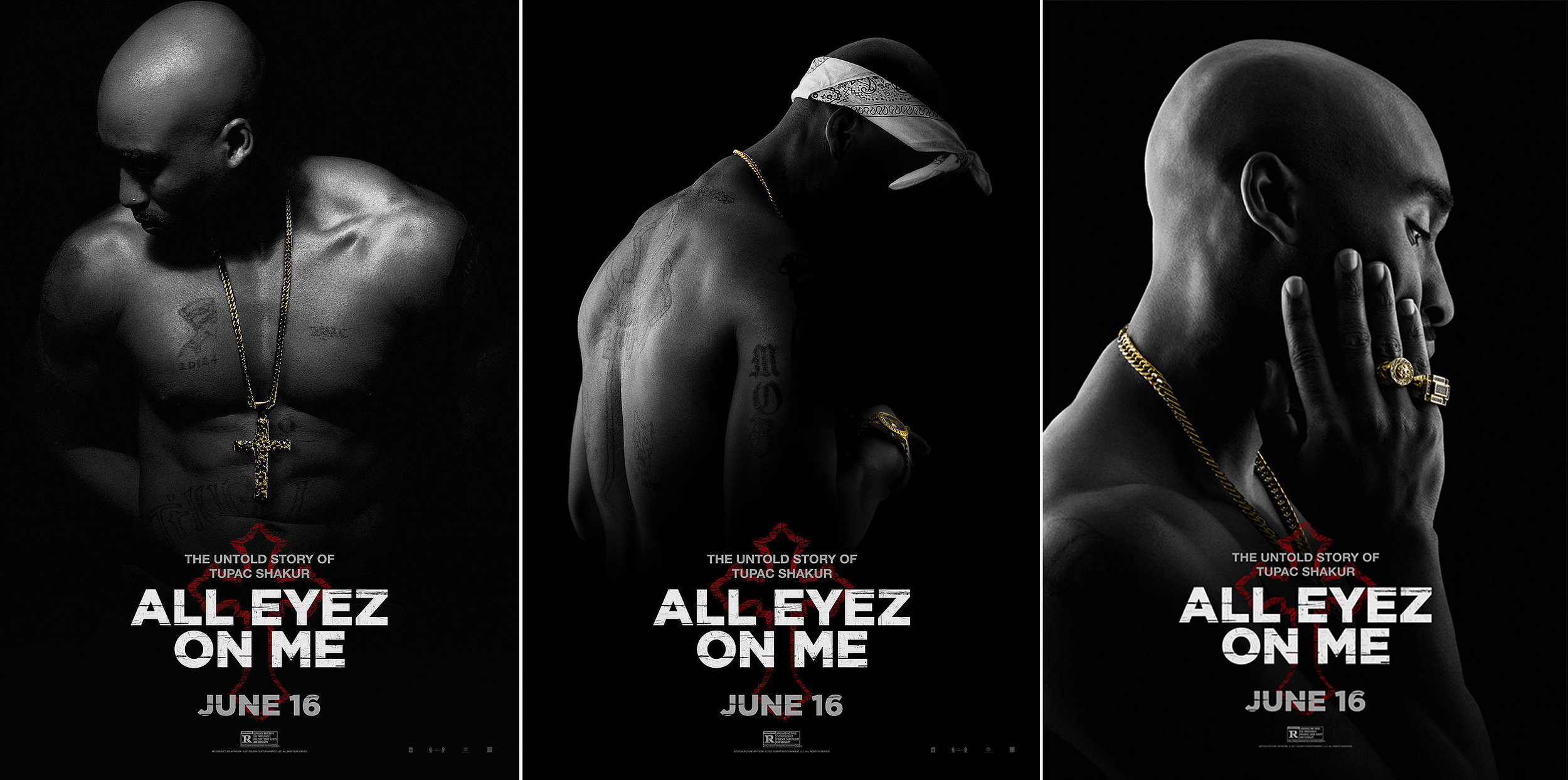 """All Eyez on Me (2017)"" Tupac Biopic Movie Promo Shoot"