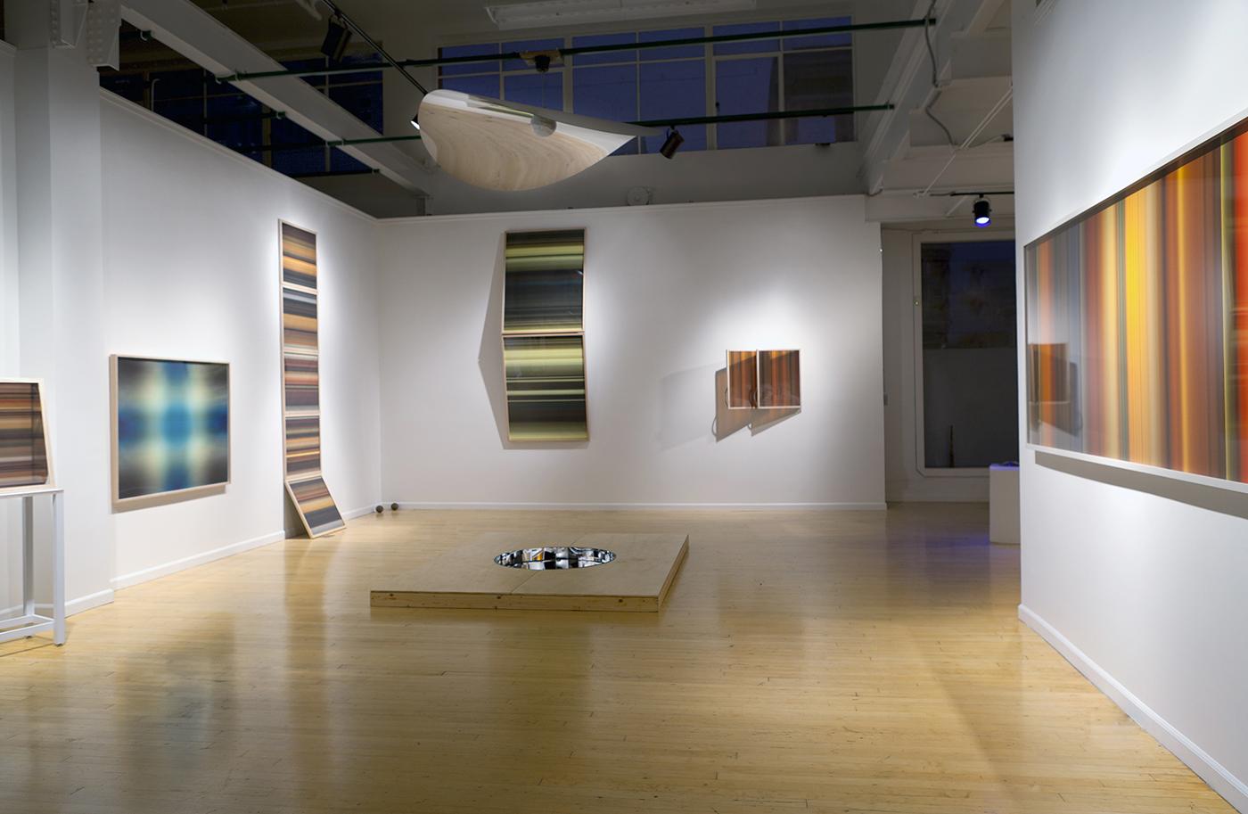 Elaine Buckholtz, Installations photograph of  Light Making Motion: Works on Paper and In Light, 2011. Photograph:Floor van de Velde