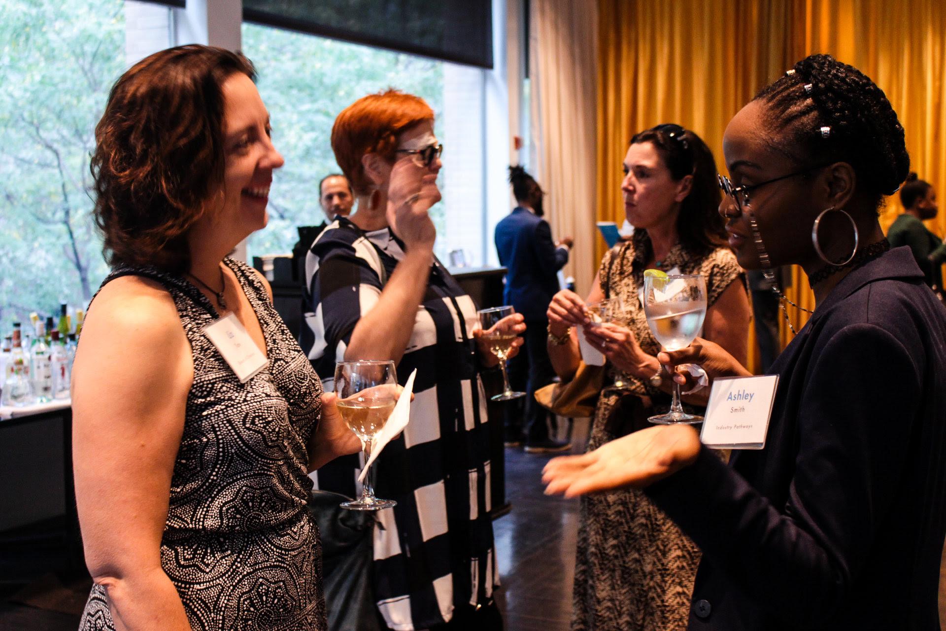 (far left)  Board Member   Liz Tate  and (far right) Free Spirit PRO alum   Ashley K. Smith