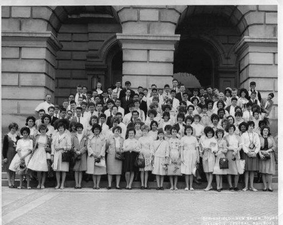 In May 1962, Anita Solick Oswald went on a trip to Springfield with her eighth-grade classmates from St. Mel-Holy Ghost School. (photo submitted)