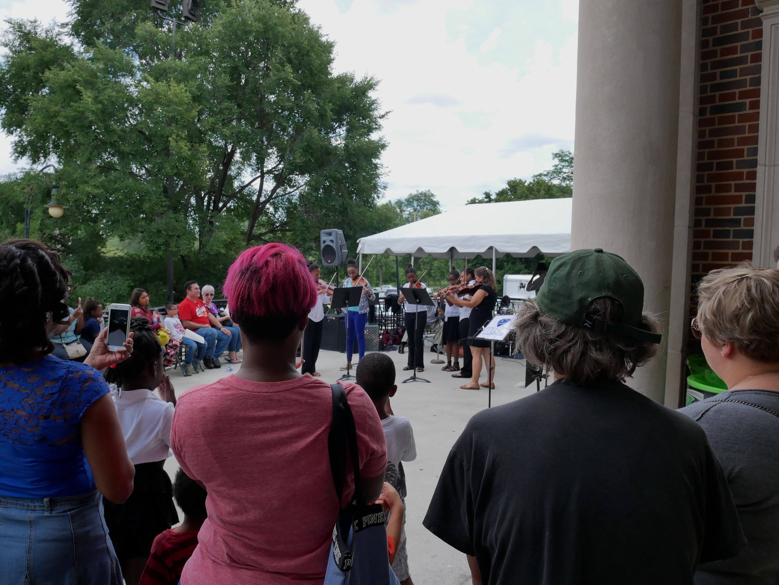 Attendees gather to listen to live music at last year's North Lawndale Arts and Culture Festival held in Douglas Park. This year's festival will be held from Friday, Aug. 3 to Sunday, Aug. 5.