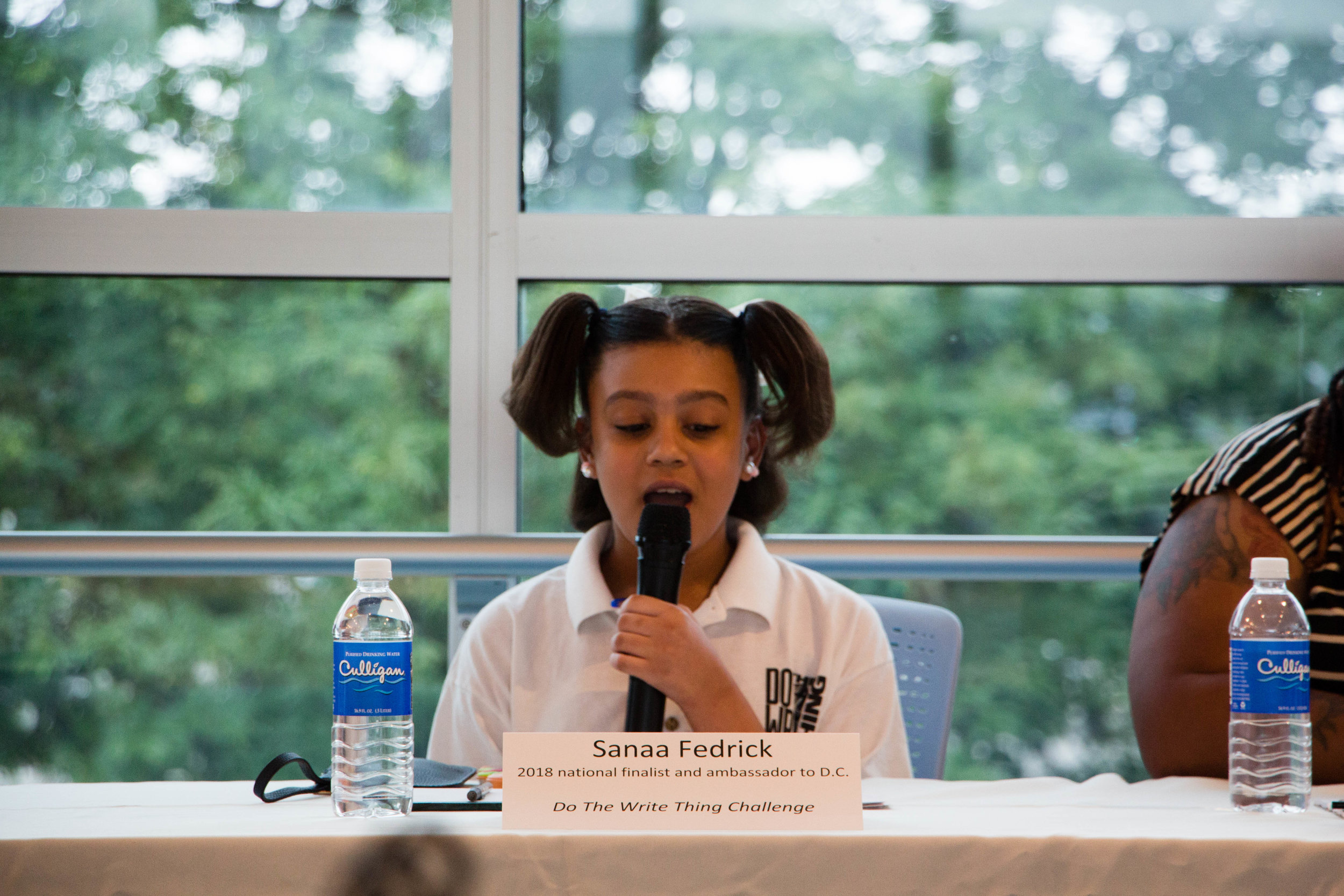 """"""" Gun violence shouldn't be happening. I should be worried about my future instead ."""" - Sanaa Fedrick, Do The Write Thing Challenge"""