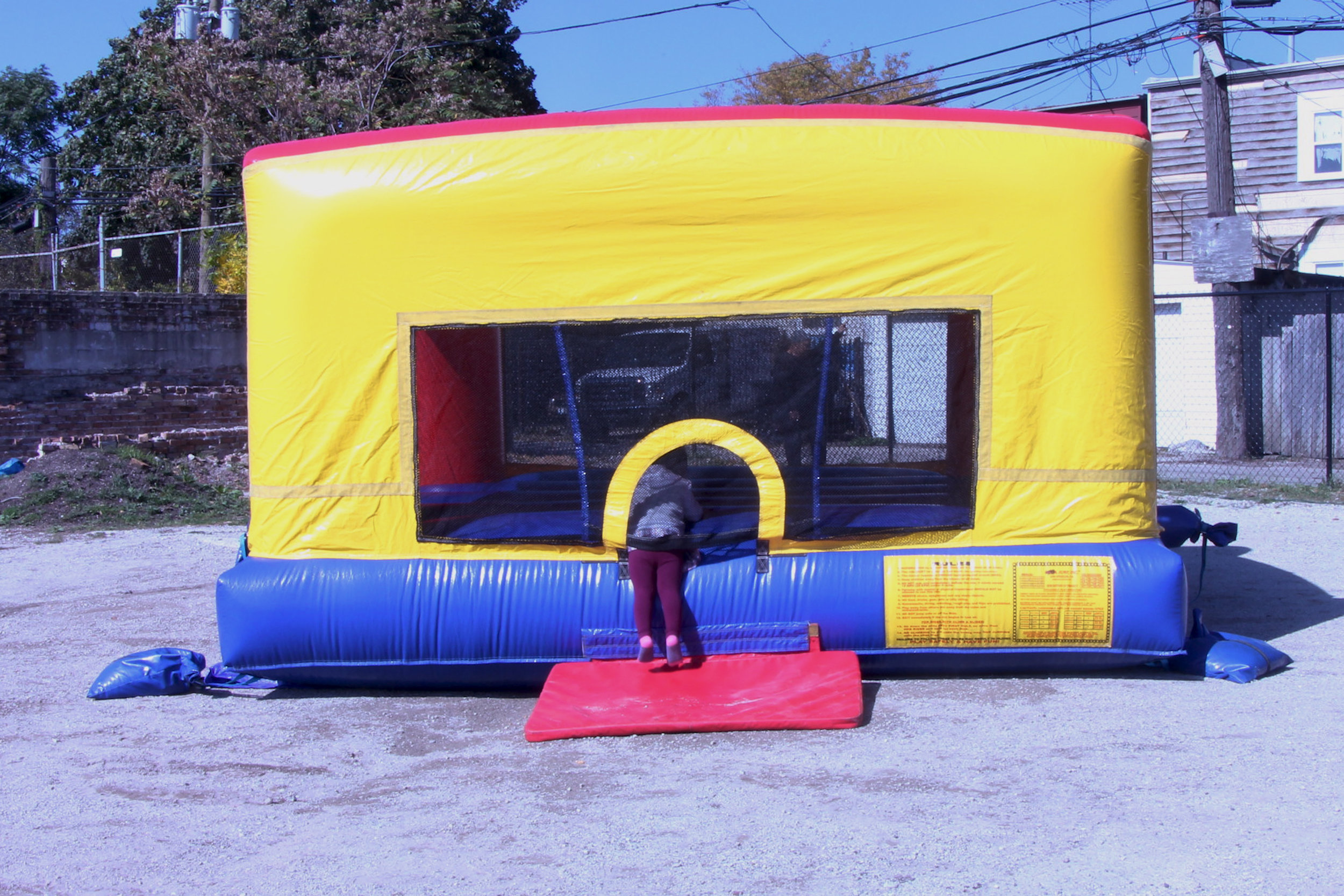 Inflatable bouncer for children.
