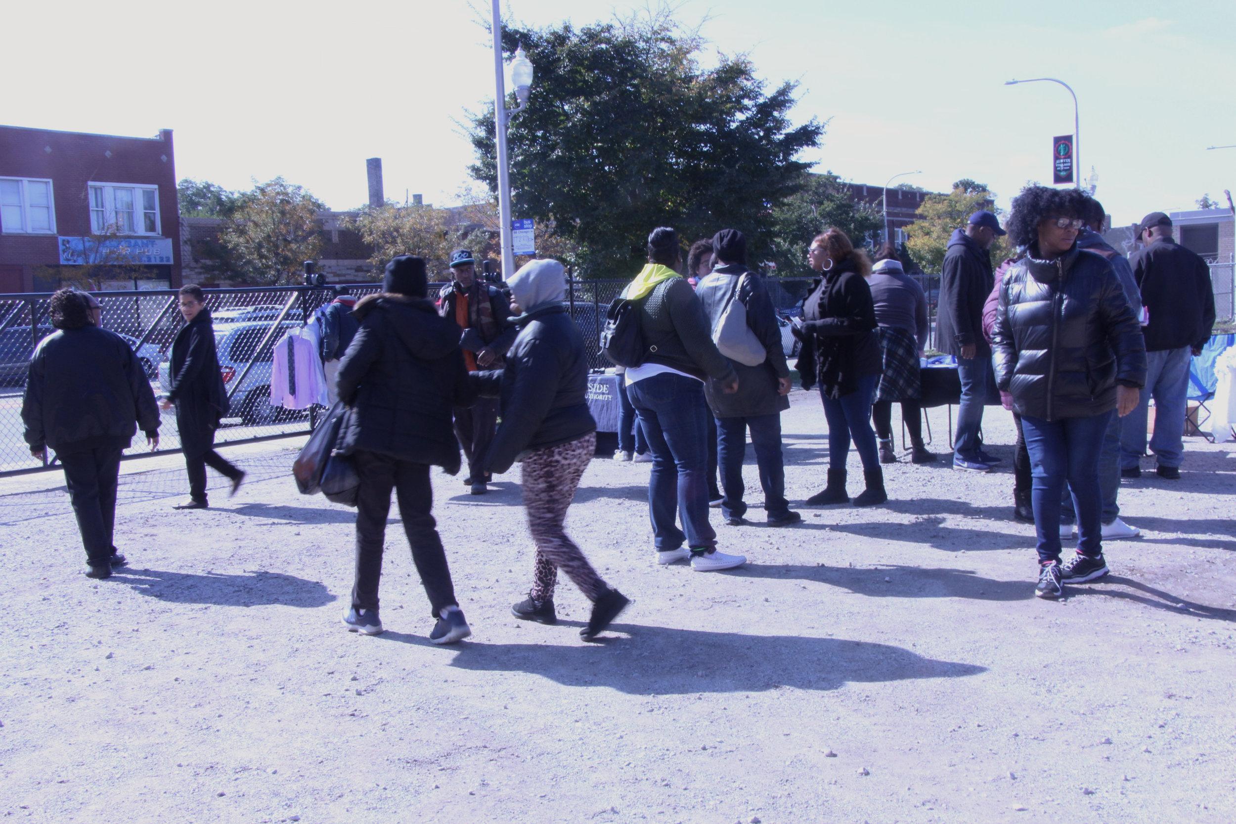 Community members started gravitating towards the speakers.