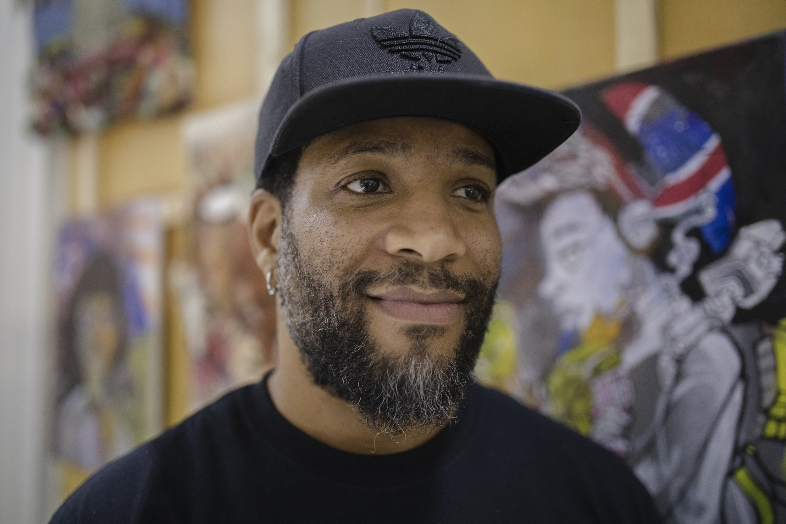 Haman Cross III is a mixed media artist who teaches at KIPP Ascend Middle School and at SAIC. Cross said he uses art to express what's in his subconscious.