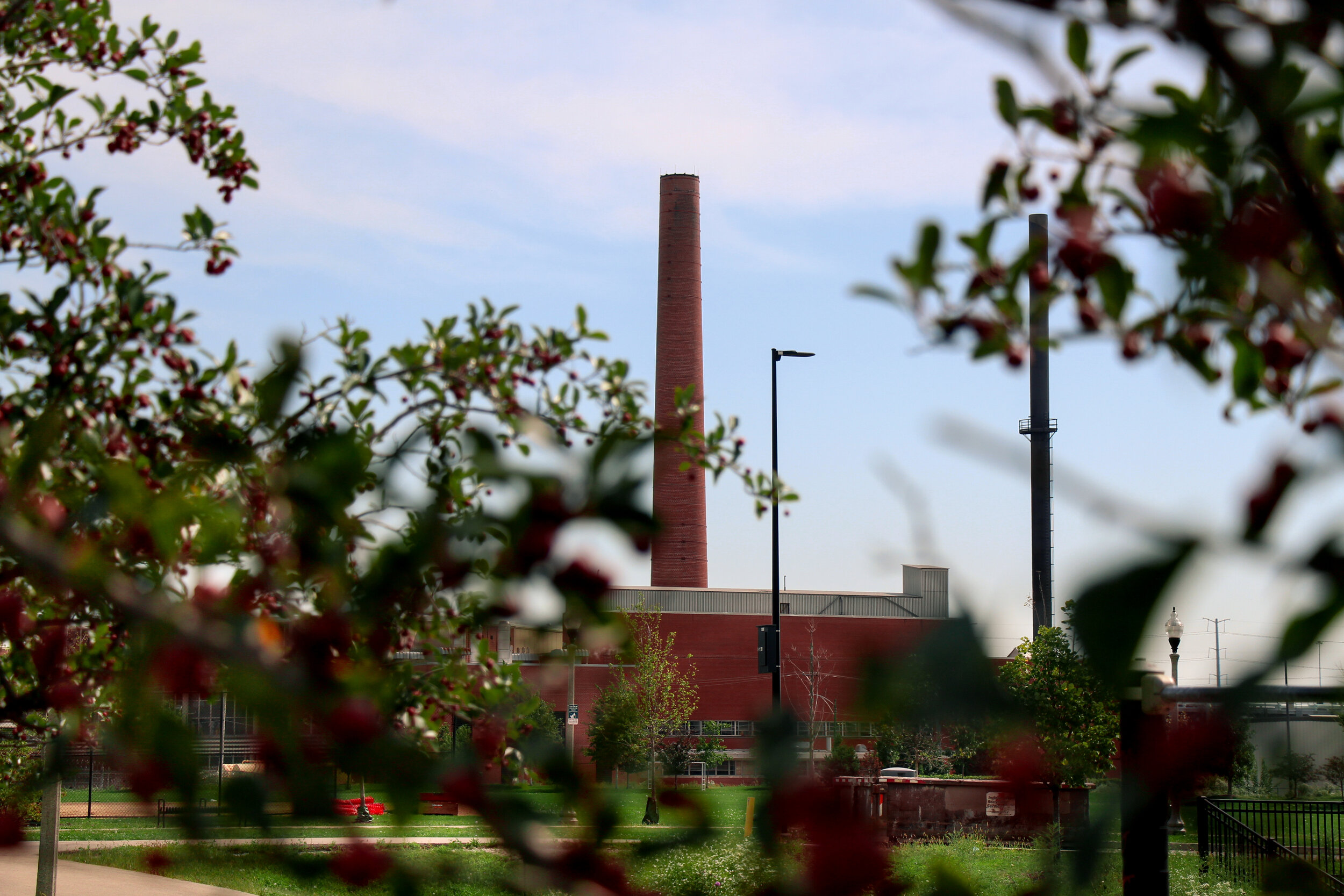 La Villita Park neighbors Cook County Department of Corrections and coal plant.