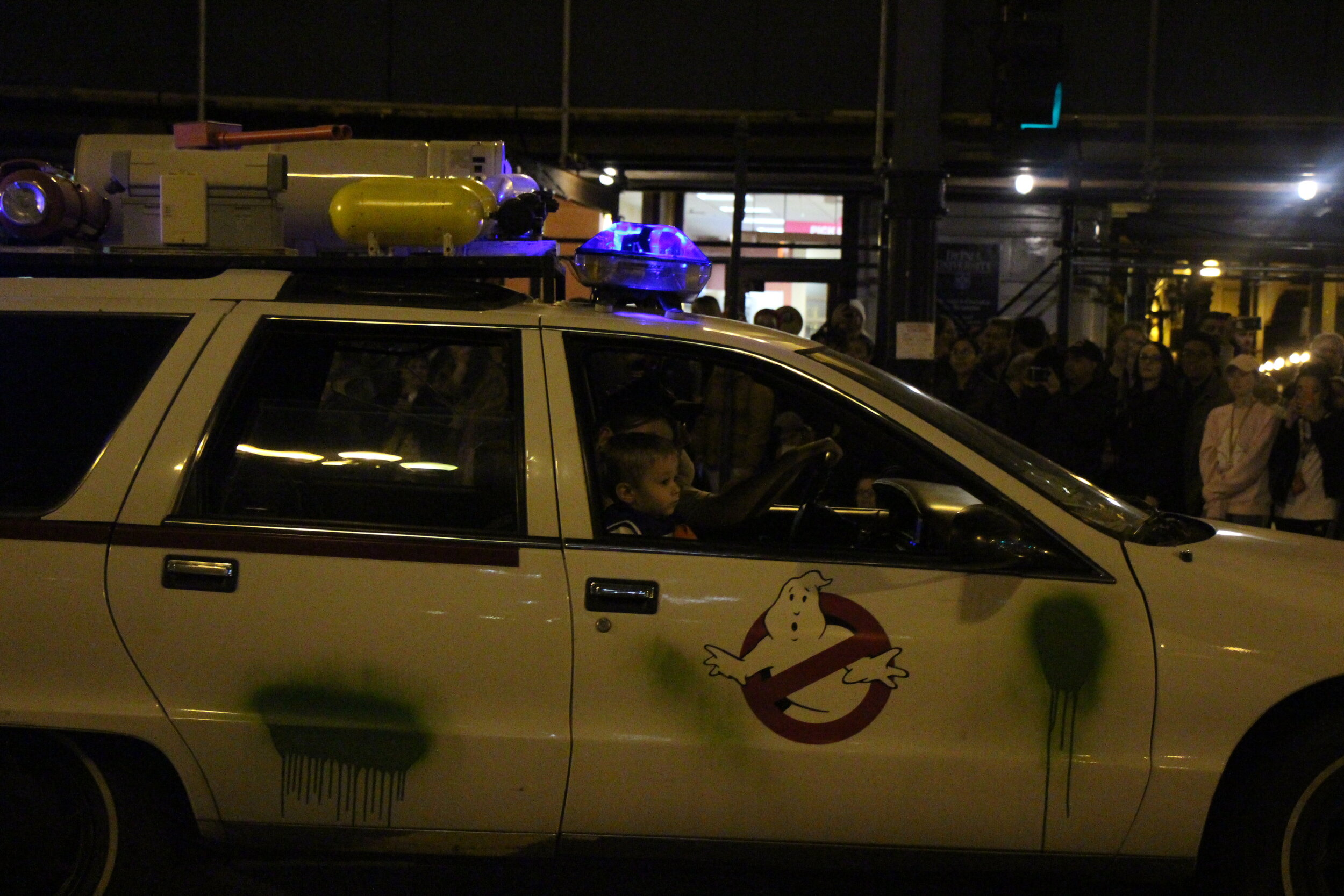 Ghostbusters out and about at The Art in the Dark parade.