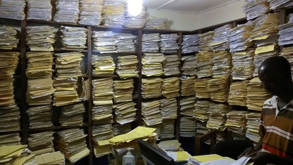 A picture of a medical record's room kind of says it all