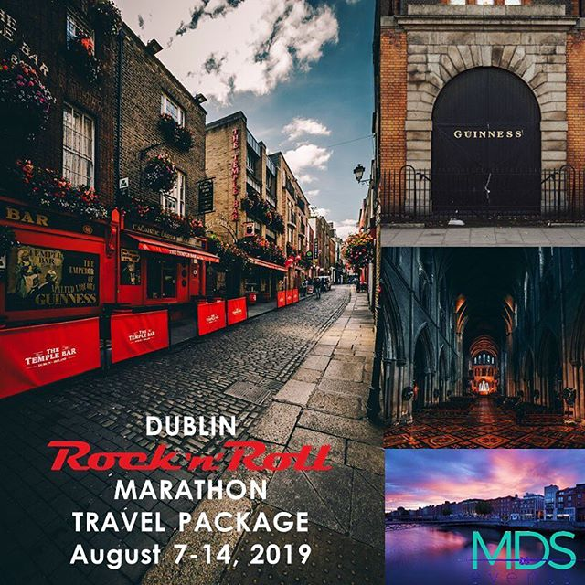 Travel packages for the Rock 'n' Roll Marathon Dublin 2019.  Full itinerary available on MDS Events website.  #runner #marathon #travel #dublin #ireland #rocknrollmarathon #travelpackages #quoteofthedat