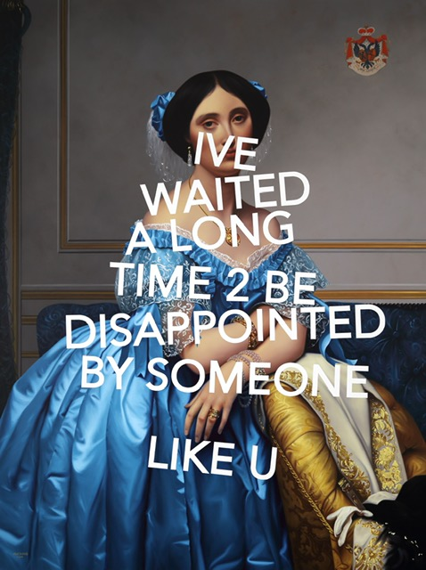 Galerie Bessières-Shawn Huckins-'Princesse de Broglie-I've waited a long time to be disappointed by someone like you'-Acrylic on canvas-2019-183x137cm.jpeg @galerie Bessières (2).jpeg