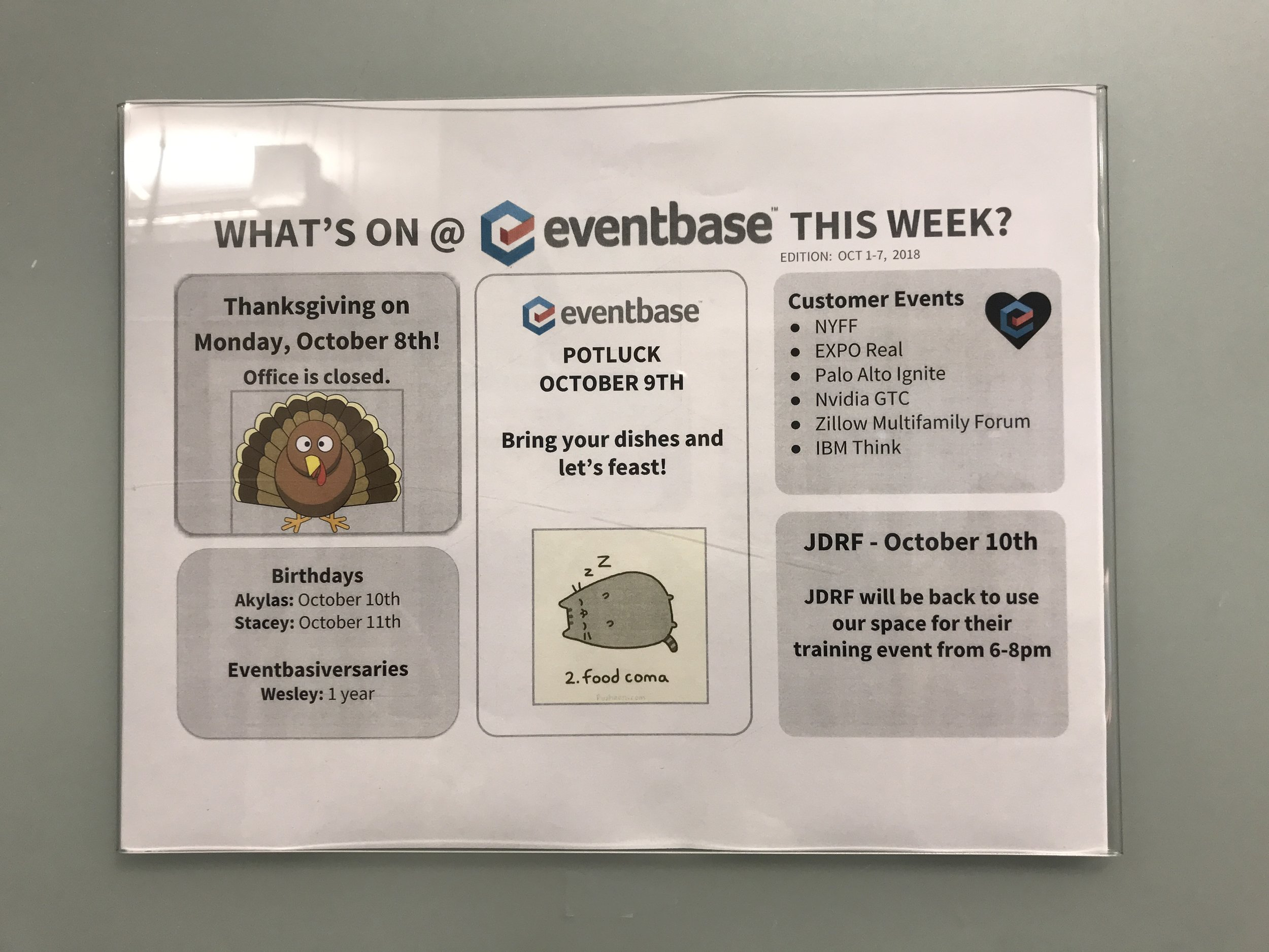What's going on at Eventbase this week?