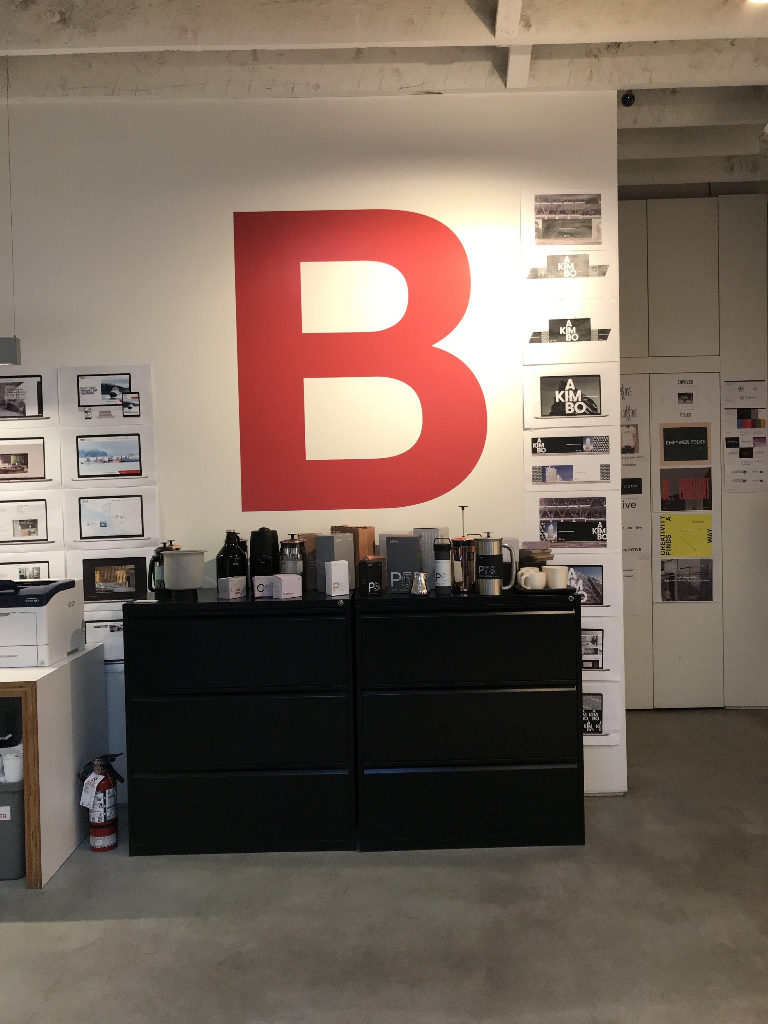 Coffee pot prototypes lying around at the Burnkit studio.