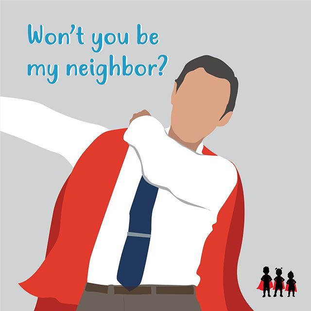 """We recently watched """"Won't you be my neighbor?"""" and were incredibly inspired. Have you watched it? . . . Fred Rogers was an amazing human being that loved children deeply and believed that adults should teach and protect children. His program Mister Rogers' Neighborhood touched millions of peoples' lives and tackled some of the most important and difficult issues in a child's life. Did you know that in his very first week, Mister Rogers addressed the border wall issue? King Friday XIII, fearful of change, orders a border wall to be built to keep the neighborhood safe. However, Lady Aberlin floats balloons filled with messages of love and peace and convinces the King to tear down the wall. Thank you Mister Rogers for your inspiration and efforts to build strong kids! . . What is your favorite memory from Mr. Rogers? . . . #strongkidzbooks #mrtrumpet #strongchildren #lovehasnoborders #childrensbooks #kidstagram #mrrogers #mrrogersneighborhood #wontyoubemyneighbor"""