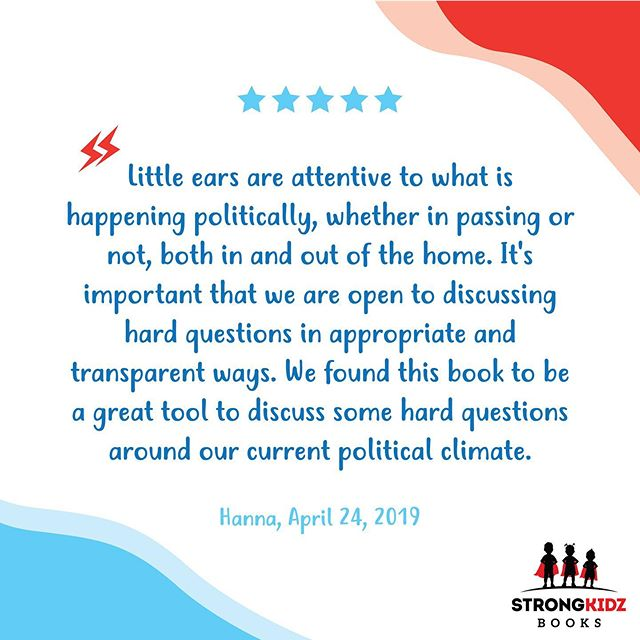 There's a lot happening right now. A lot to process, a lot to be angry about, a lot to try to hide and cover from our children to protect them. But this review nails it on the head. Our children pay attention and notice what is happening. As parents of little ones of ages 5, 3, and 6 months (yes, it's 2 am and I'm up right now not because of baby but because this is important 😭🙏🏻), we felt this same frustration and challenge. We created this book so that our family could talk about these difficult things in a manner which our children would understand. We hope it does the same for you and your #strongkidz ❤️📚 . . . #strongkidz #mrtrumpet #mrtrumpetandthebignotsogreatwall #kidlit #immigration #familiesbelongtogether #kidstagram #childrensbooks #bookstagram #bookstoread
