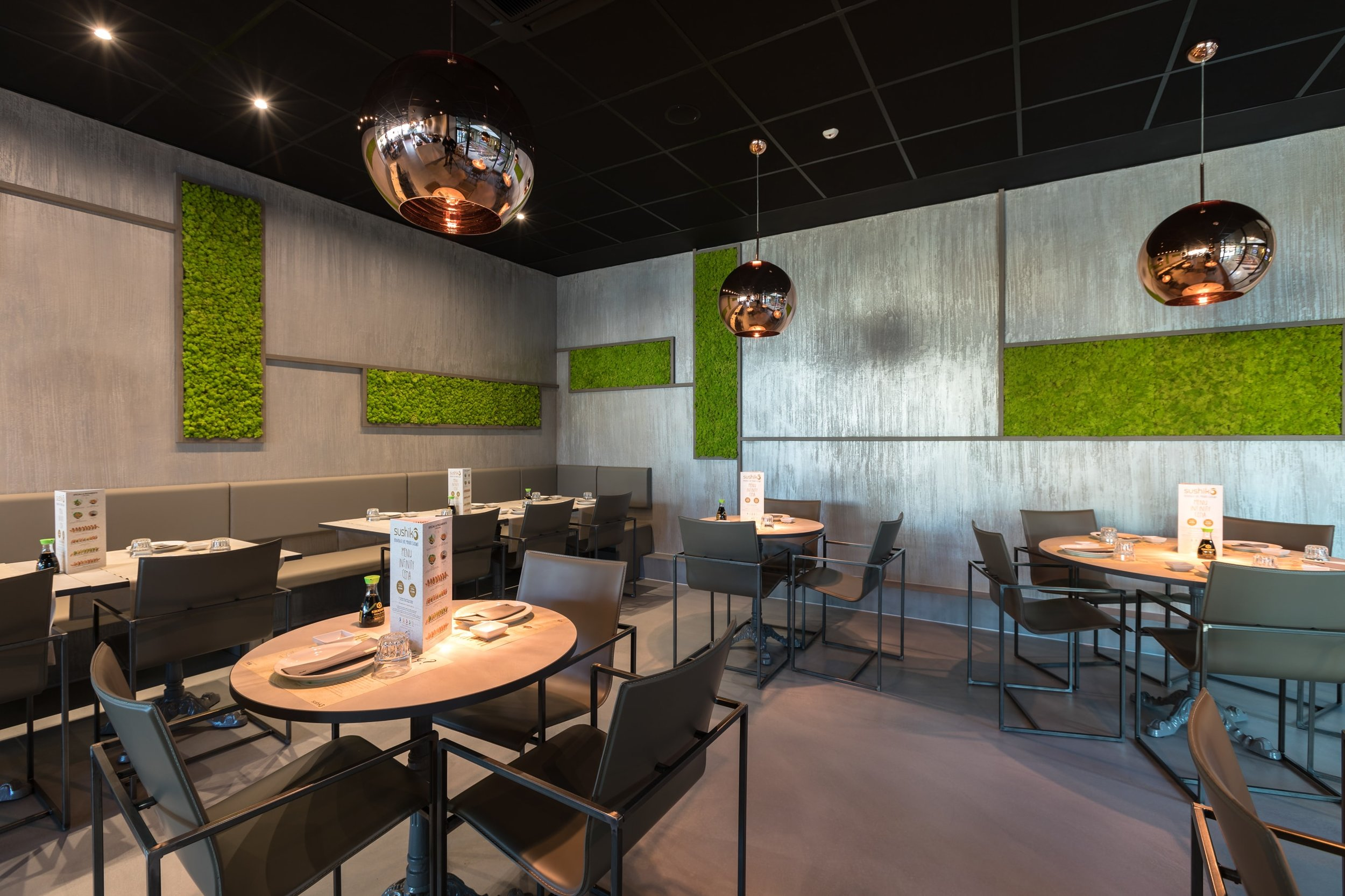 Restaurant for acoustic absorbency