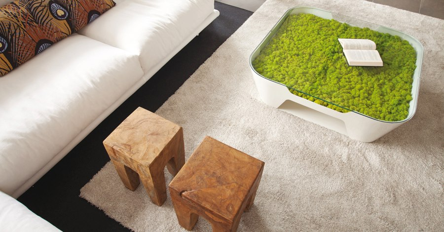 Decorative application on coffee table