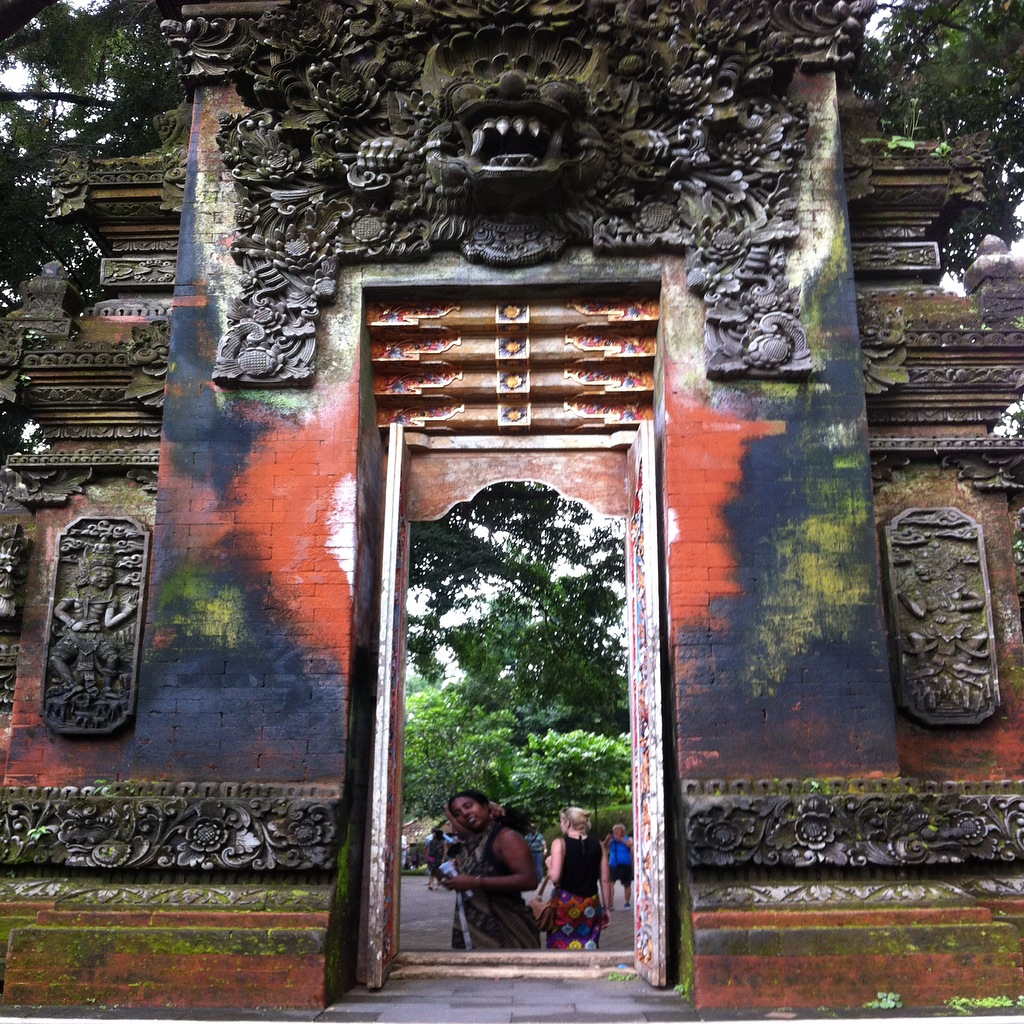 The beautiful colours on an entrance at the Tampak Empul Temple.