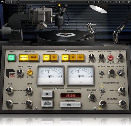 ABBEY ROAD VINYL - This plugin from waves aims to create the sound of both vinyl and the lacquer from the Abbey Roads vinyl press, An is endorsed by Abby Road for its sound.