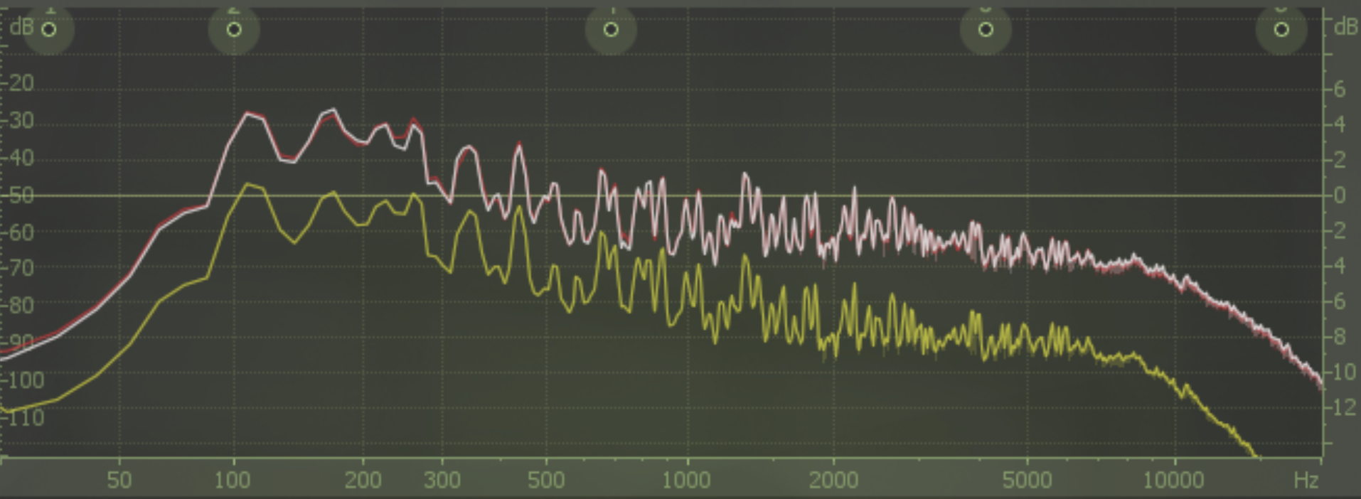 (Logic X EQ response comparison)