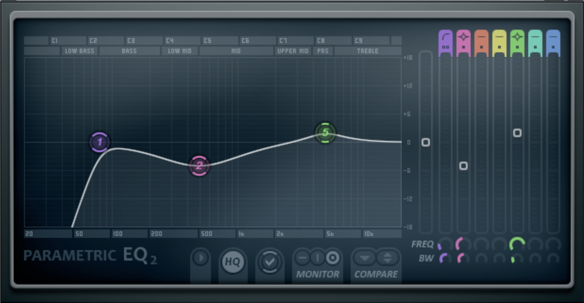 (EQ settings for FL studio EQ mix)