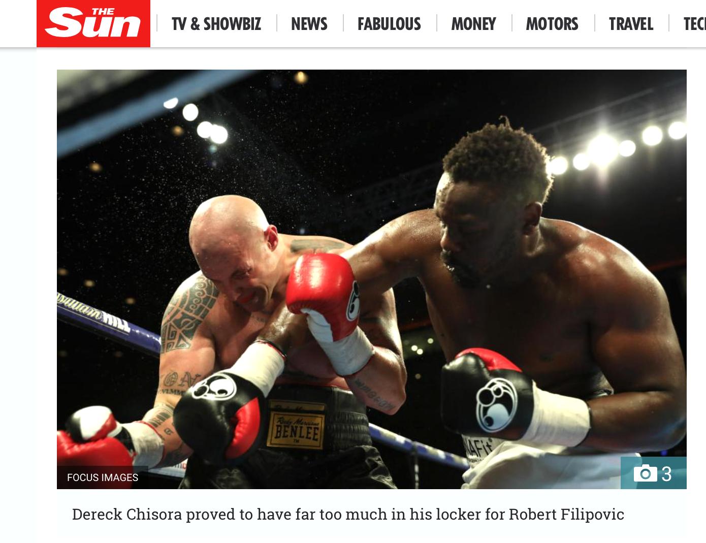 The Sun Online - Dereck Chisora v Robert FilipovicBattle of The Mersey - Matchroom BoxingWorking for Focus Images Ltd