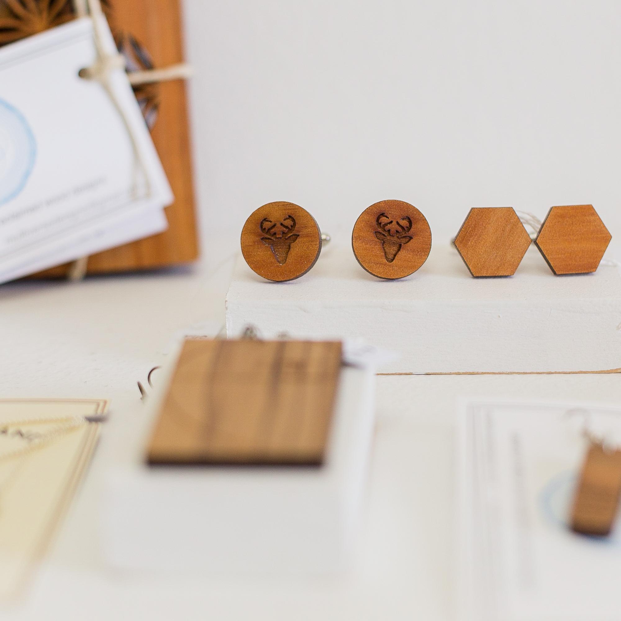 Wooden Cufflinks by Multiverse Designs