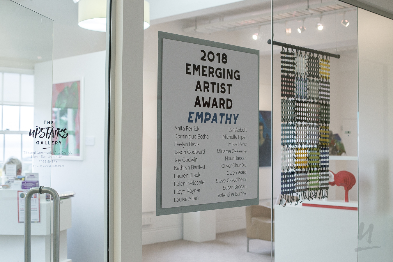 Finalists from our 2018 Emerging Artist Award