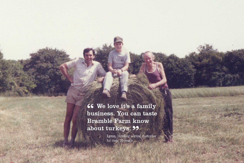 Derek, Adrian and Frank Joy 1980