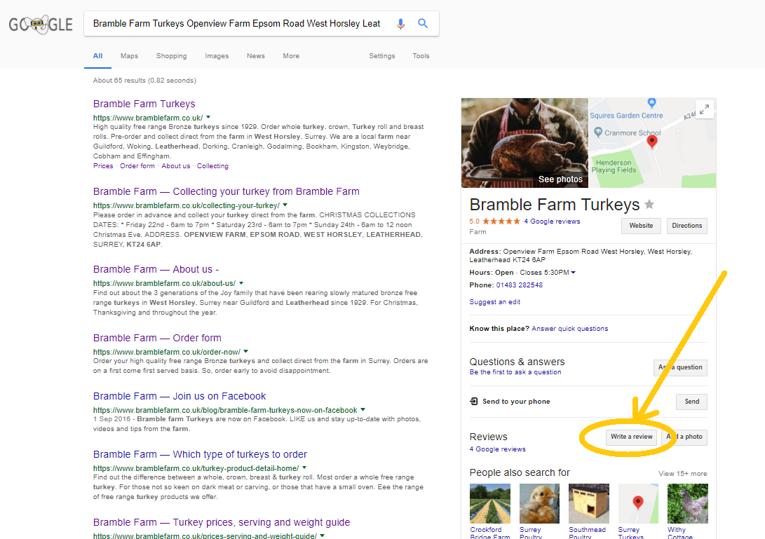 how to leave a bramble farm google business page review tips.png