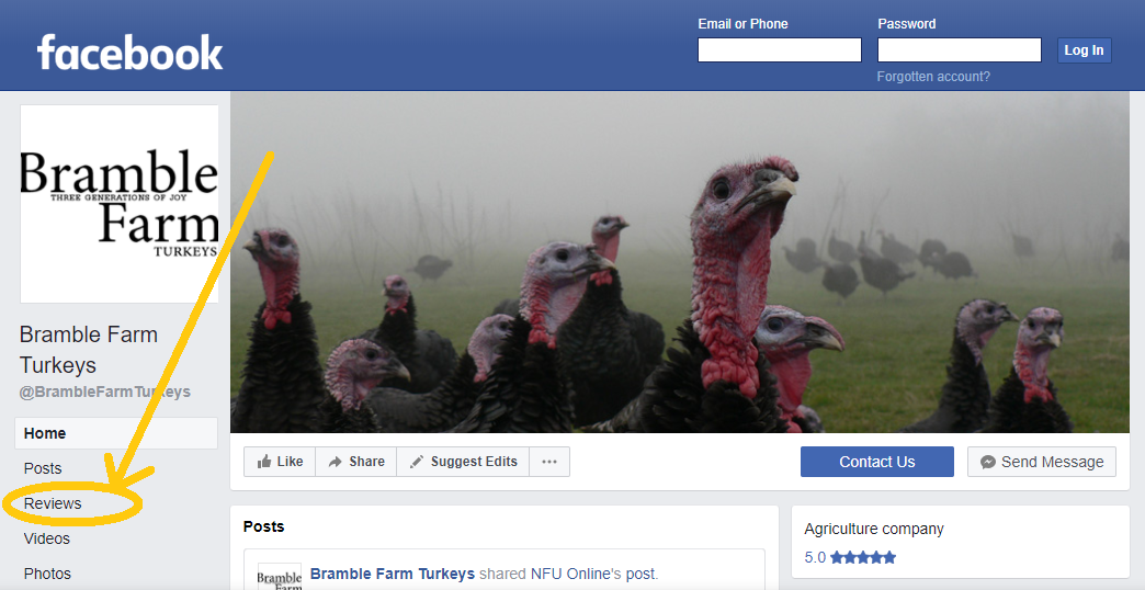 Bramble Farm how to leave a facebook review.png