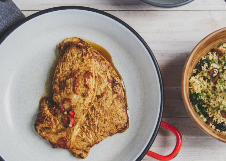Andrew Osagie's Turkey escalope and cous cous recipe courtesy of Food Champions