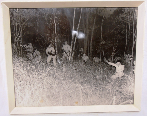 Lieut George Waite (right of photo) directing troops from 8/13 VMR on a night exercise near Albury, 1964. Photo from 8/13 VMR Collection