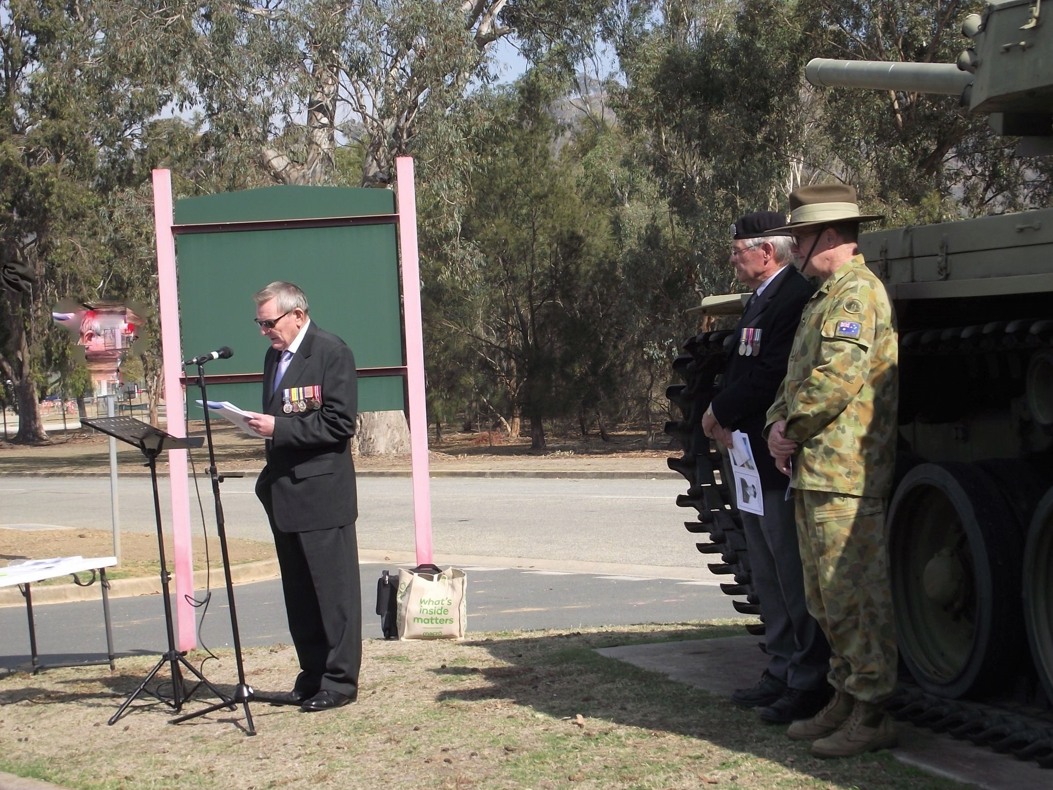 Major Gordon Cole RFD (Ret'd) speaking about the career of Colonel John Neale OAM RFD ED