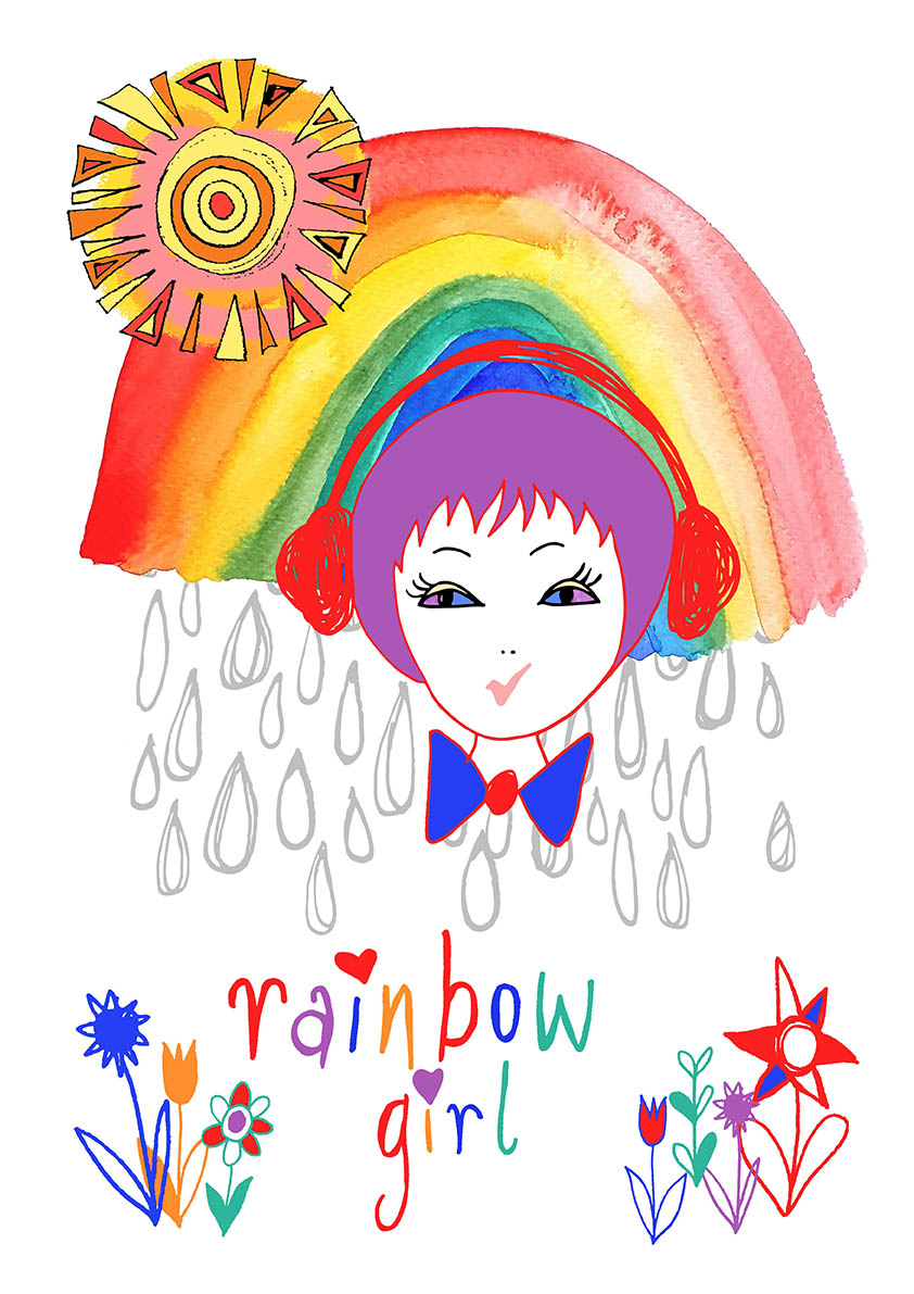 Rainbow Girl illustration, Rebecca Johnstone