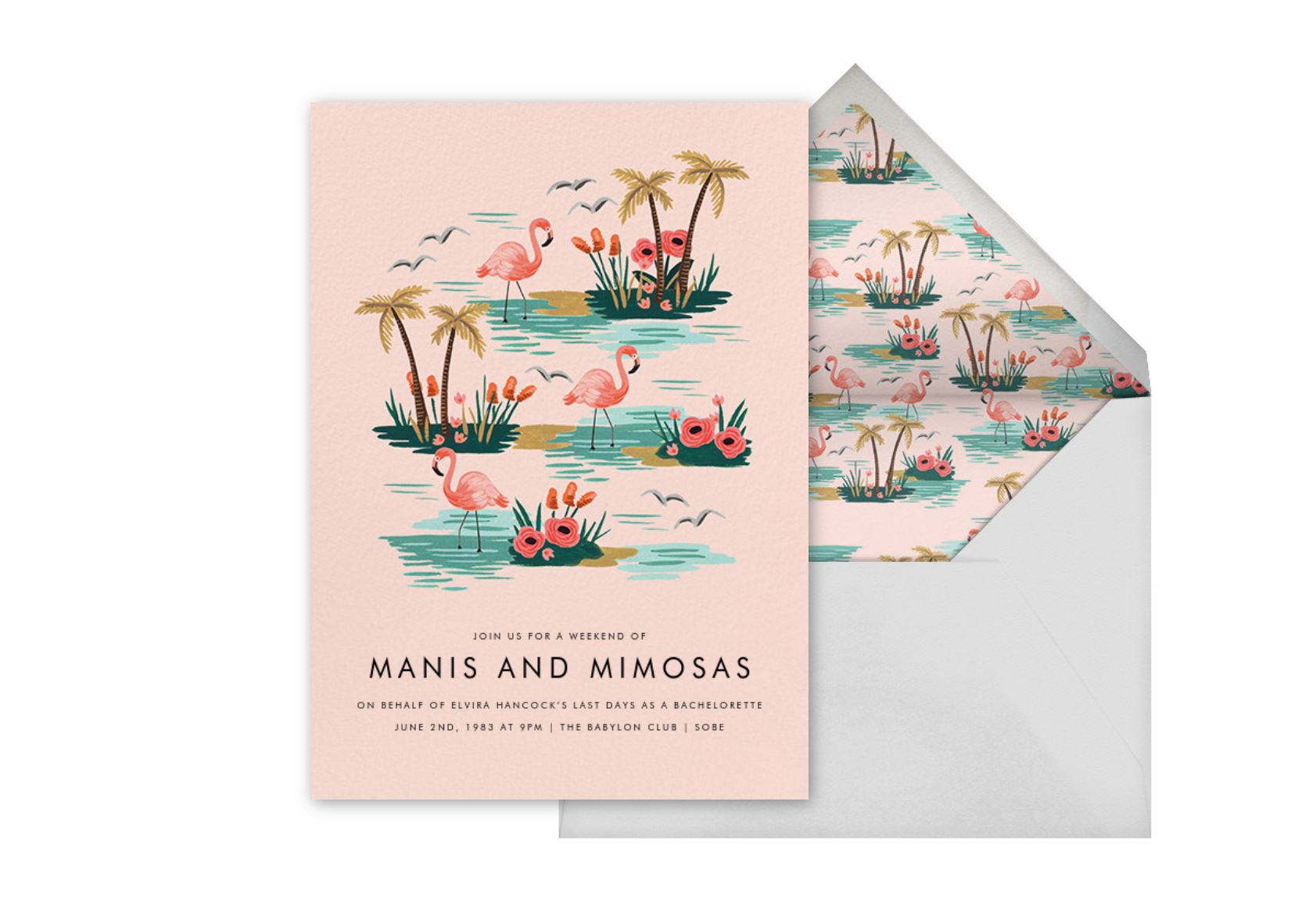 'Flamingo Lagoon' Party Invitation by Rifle Paper Co.