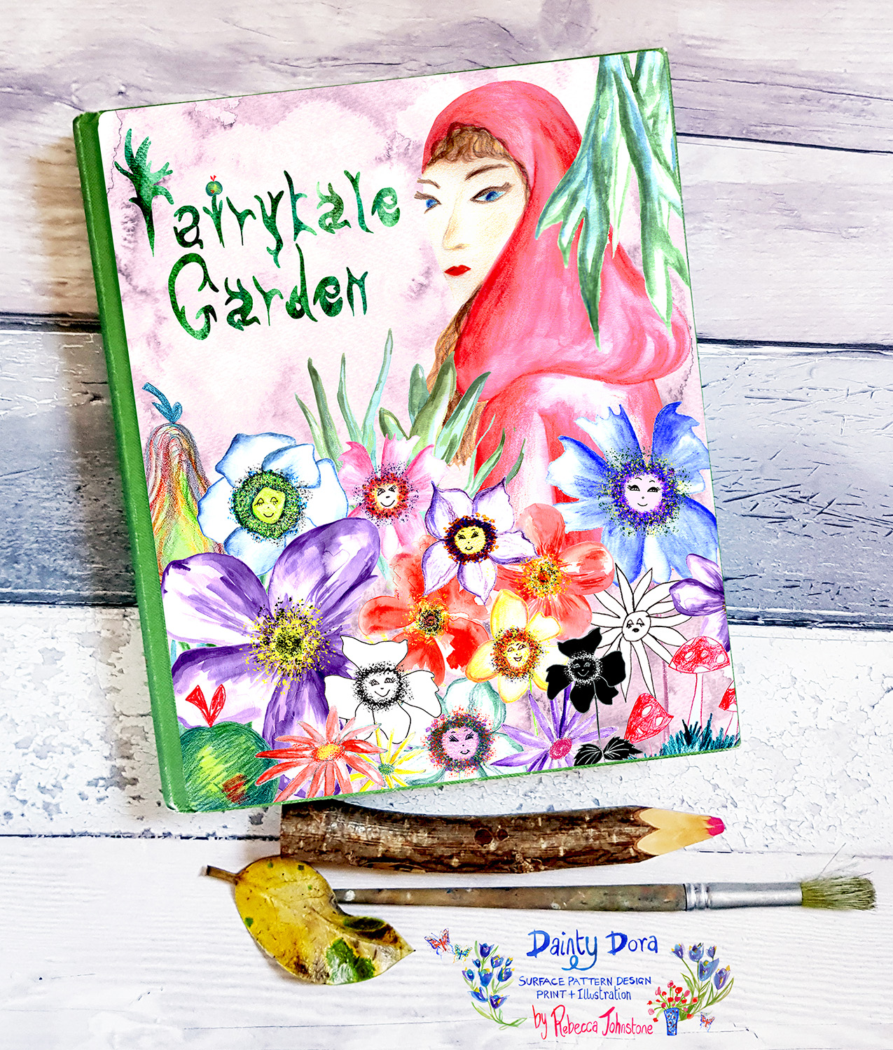Fairytale Garden Journal Cover Concept for the Global Talent Search 2018, by Rebecca Johnstone