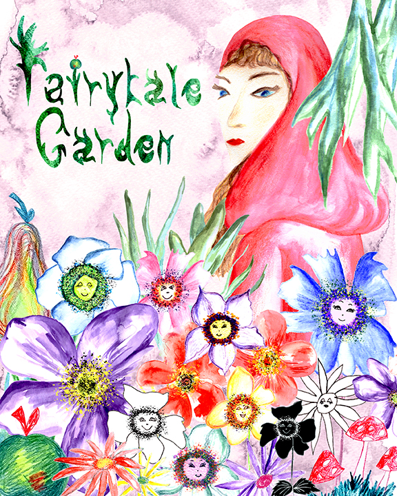 Fairytale Garden illustration by Rebecca Johnstone