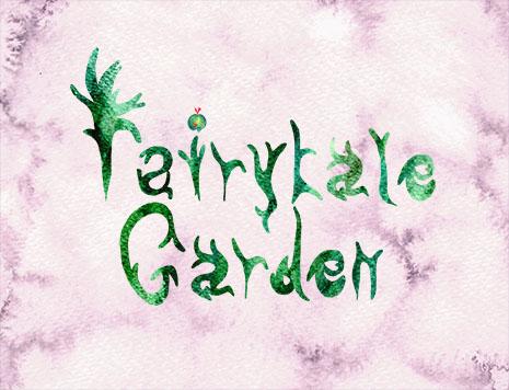 Fairytale Garden Stag Fern lettering, Rebecca Johnstone