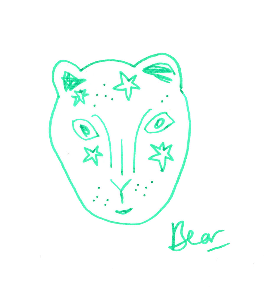 Bear face character illustration workshop @ Oliver Bonas, Glasgow