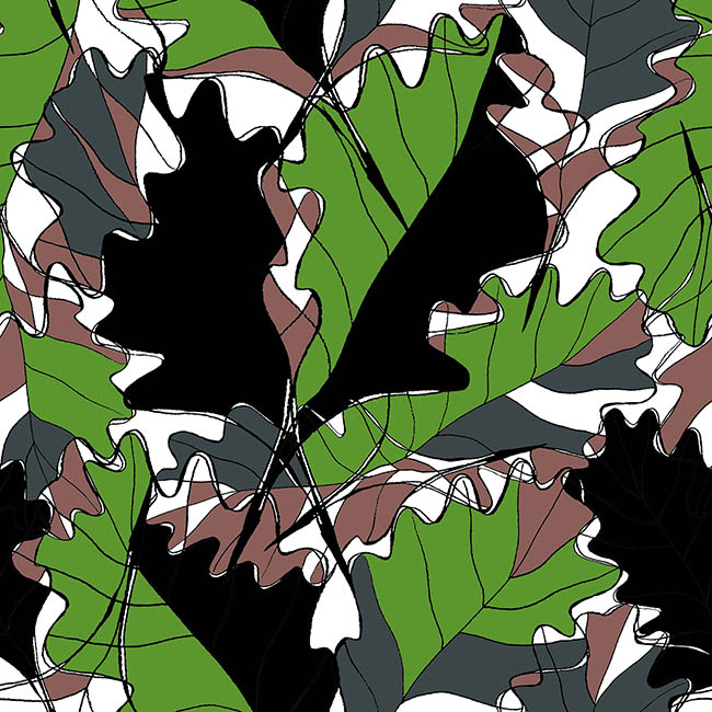 Garden Foliage surface pattern design by Rebecca Johnstone