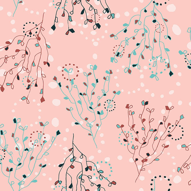Japanese Blossom surface pattern design by Rebecca Johnstone