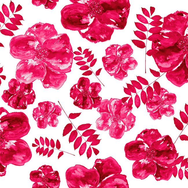 Pink Poppy surface pattern design by Rebecca Johnstone