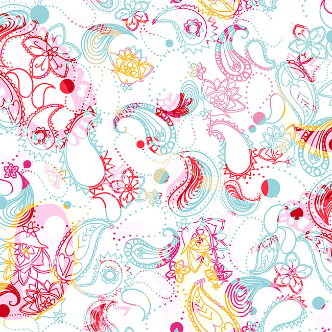 Paisley Double Exposure surface pattern design by Rebecca Johnstone