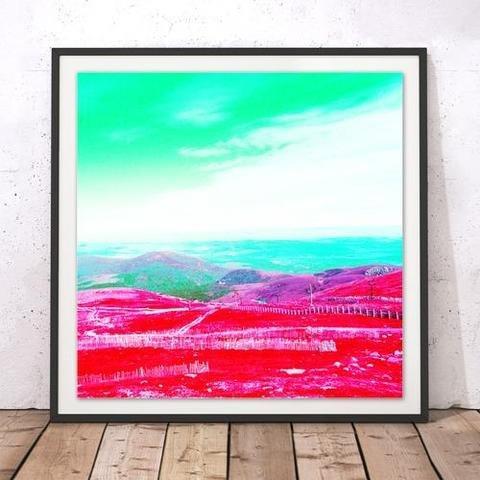 Rebecca Johnstone Cairngorm 1 - Pink - Square Print