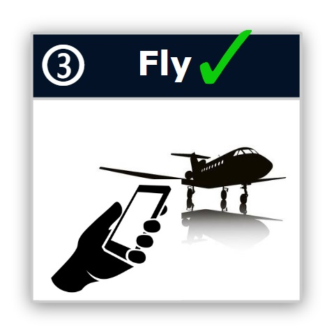 We text a link to your phone. Click for confirmed prices, actual aircraft pics, itinerary. etc.. Click to book & fly✔